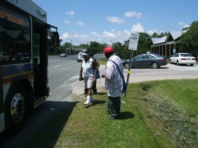 North Carolina bus stop - photo by Robert Hothan.